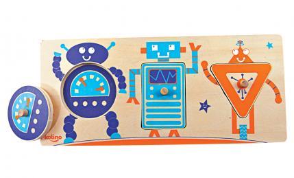 3 Piece Puzzle Robots Baby Toy