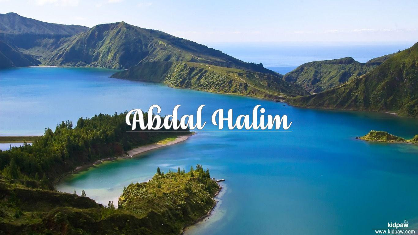 Abdal Halim 3D Name Wallpaper For Mobile Write On Photo Online