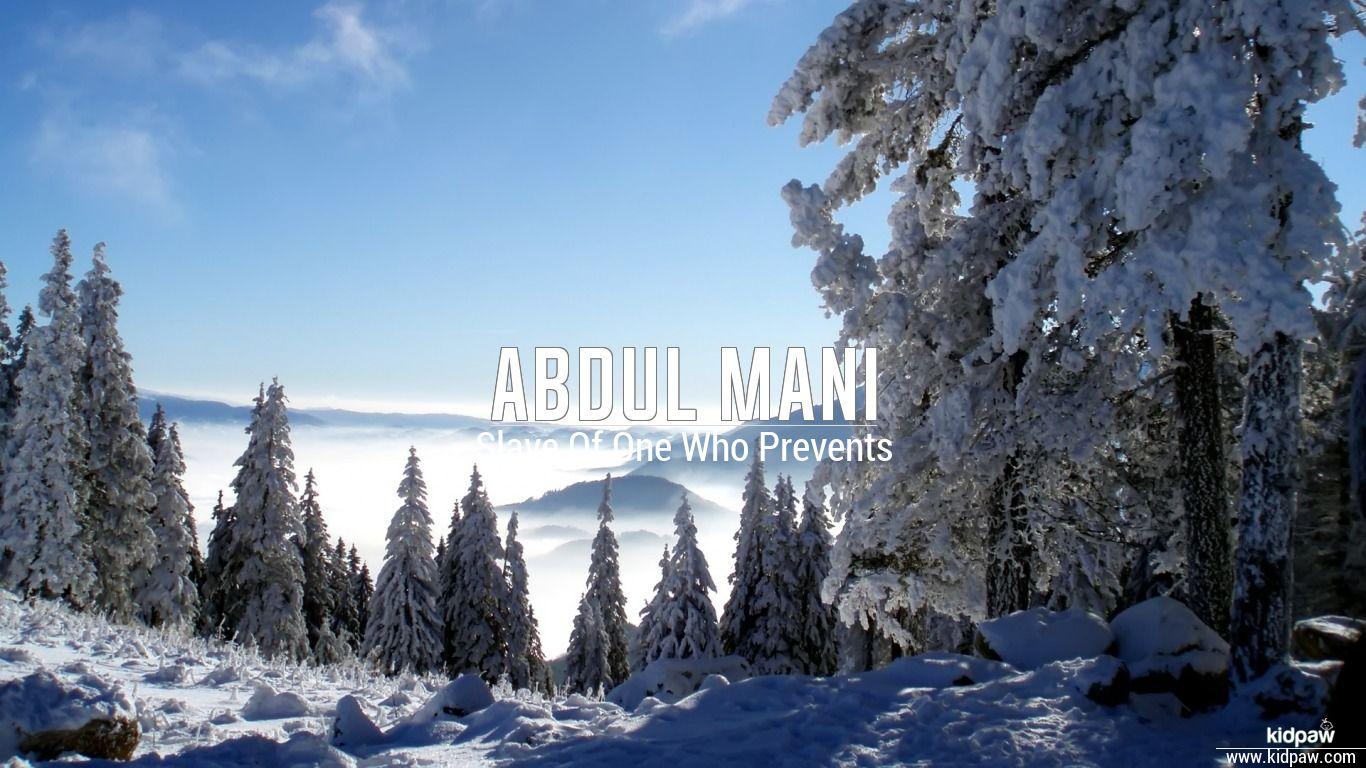 Abdul mani beautiful wallper