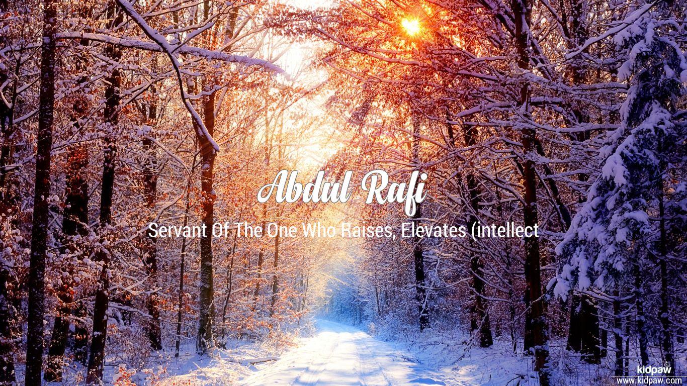 Abdul rafi beautiful wallper