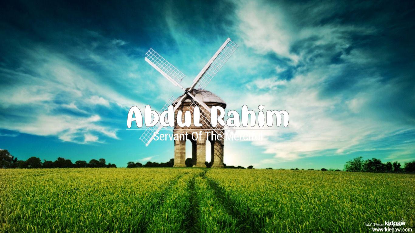 Abdul rahim beautiful wallper