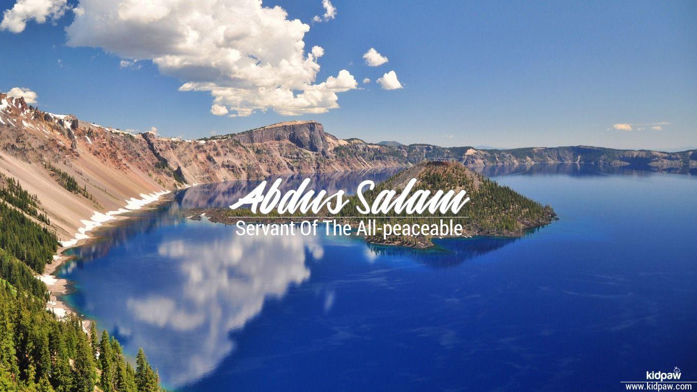 Abdus salam beautiful wallper