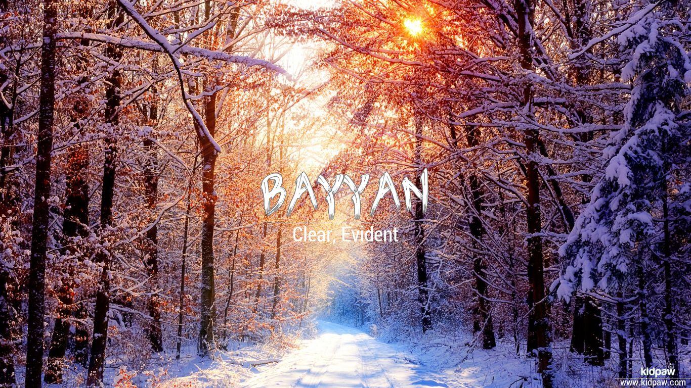 Bayyan beautiful wallper