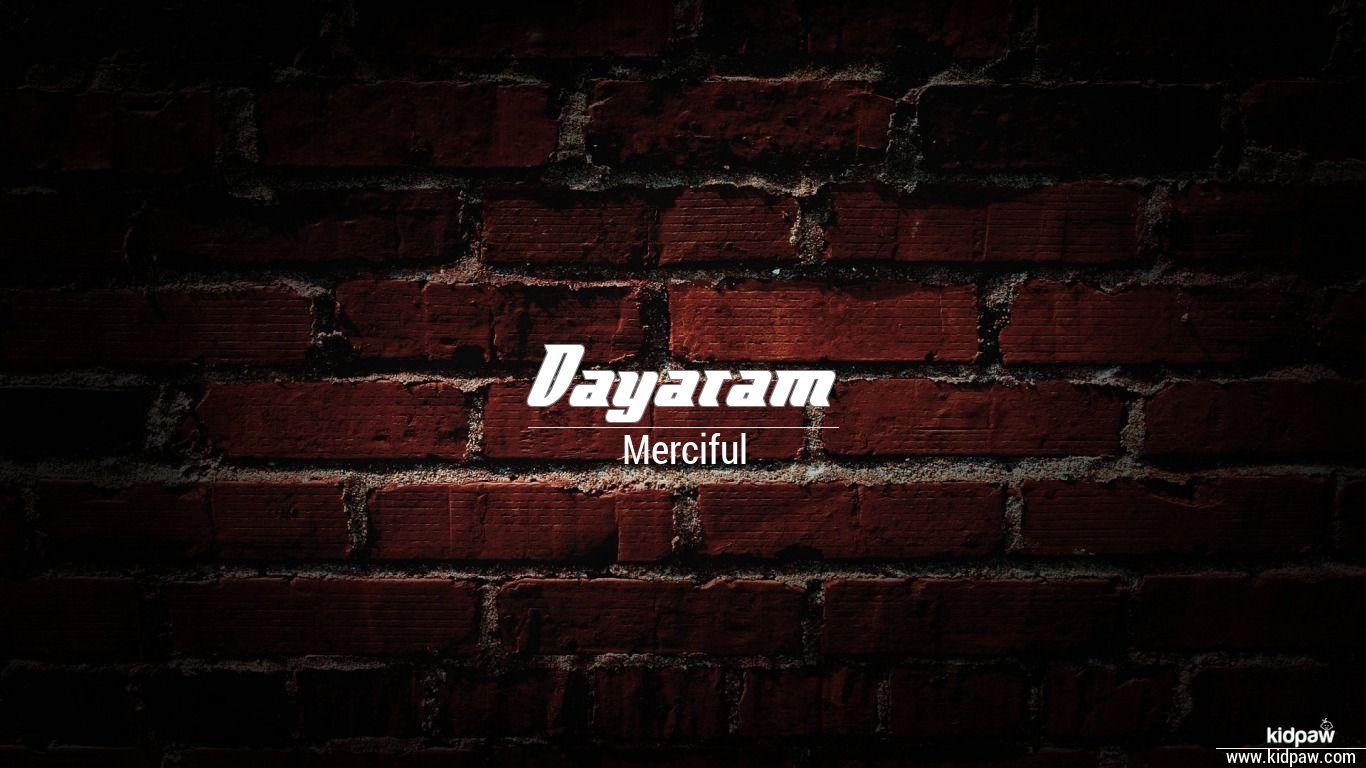dayaram name image