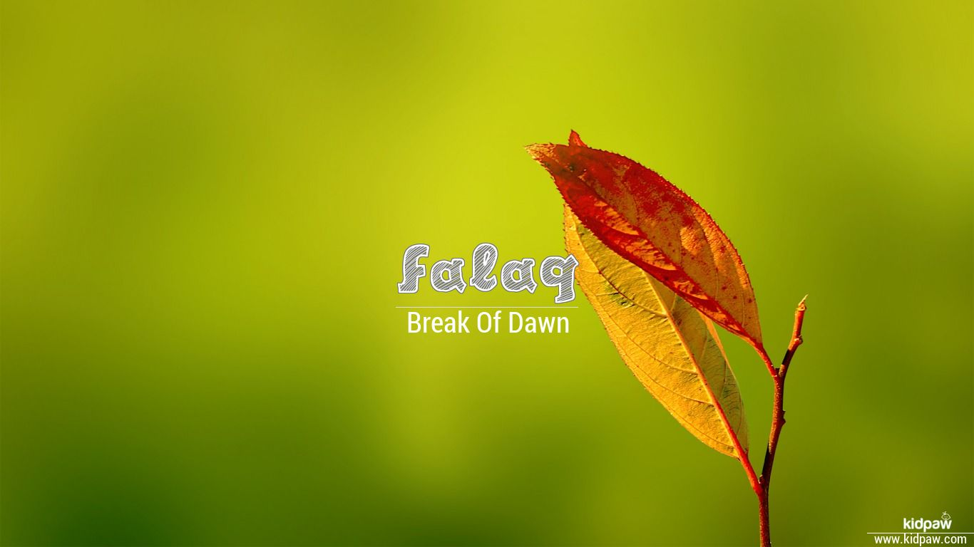 فلق   Falaq Name Meaning in Urdu, Arabic names for Girls