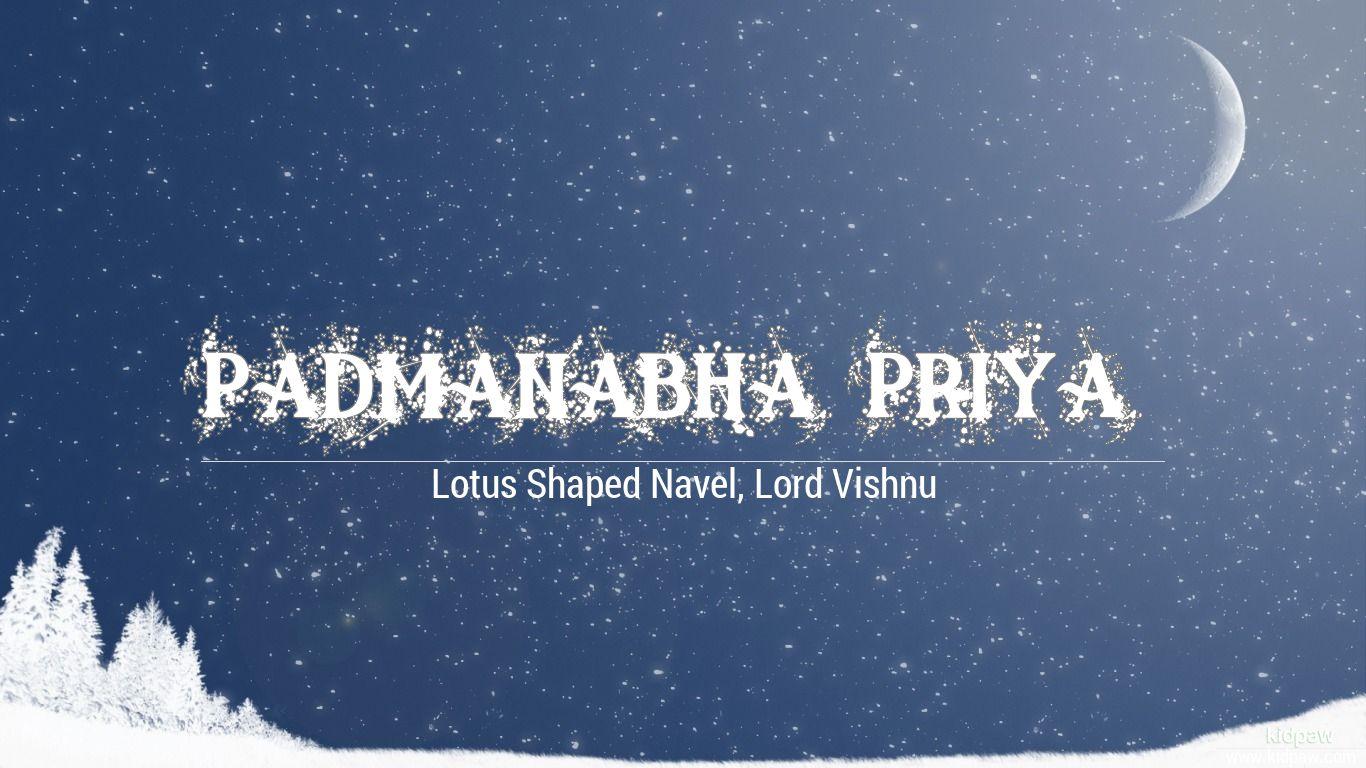 Padmanabha Priya beautiful wallper
