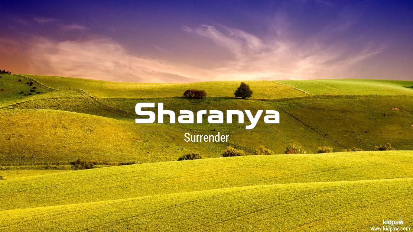 sharanya name