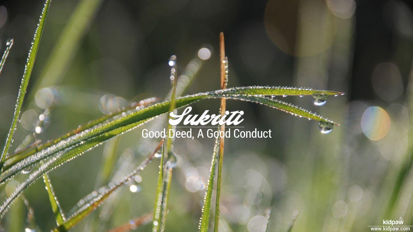 सुकृति | Sukriti Name Meaning in Hindi, Latest Indian Baby ...