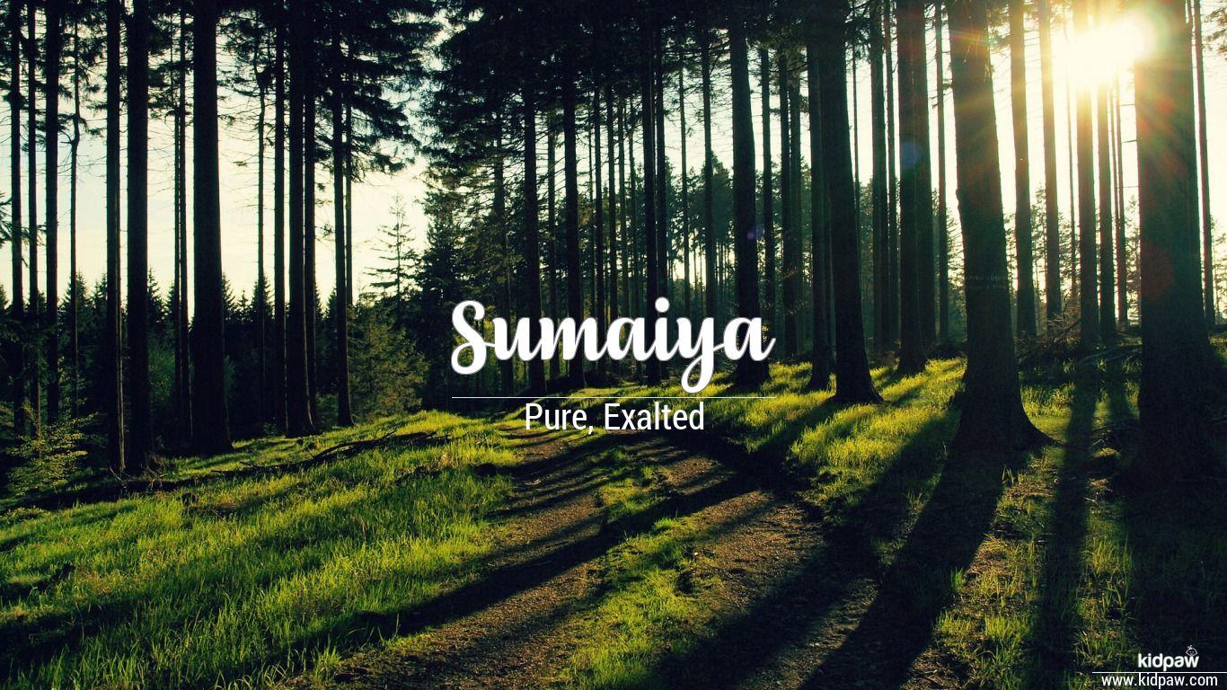 سمایا | Sumaiya Name Meaning in Urdu, Arabic names for Girls
